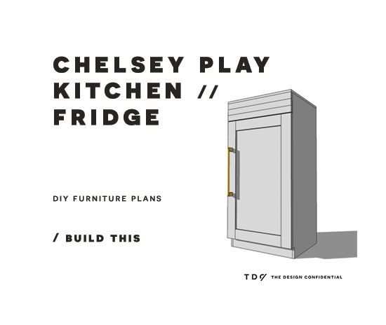You Can Build This! The Design Confidential DIY Furniture Plans // How to Build a Chelsey Play Kitchen Refrigerator