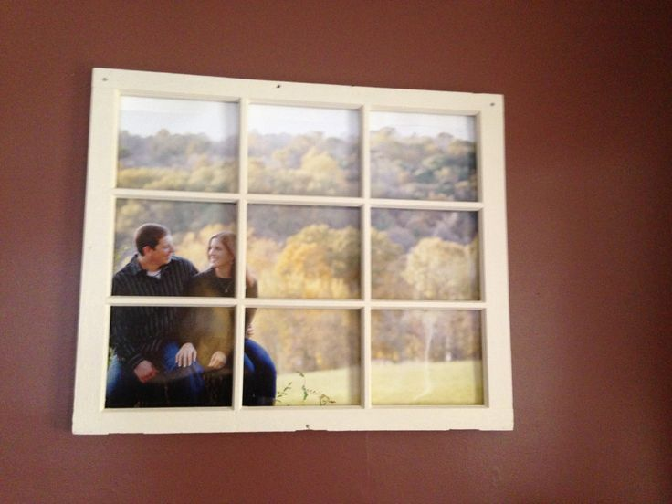 Old Window Frames Decorating Ideas | Old Window Pane Turned Picture Frame!