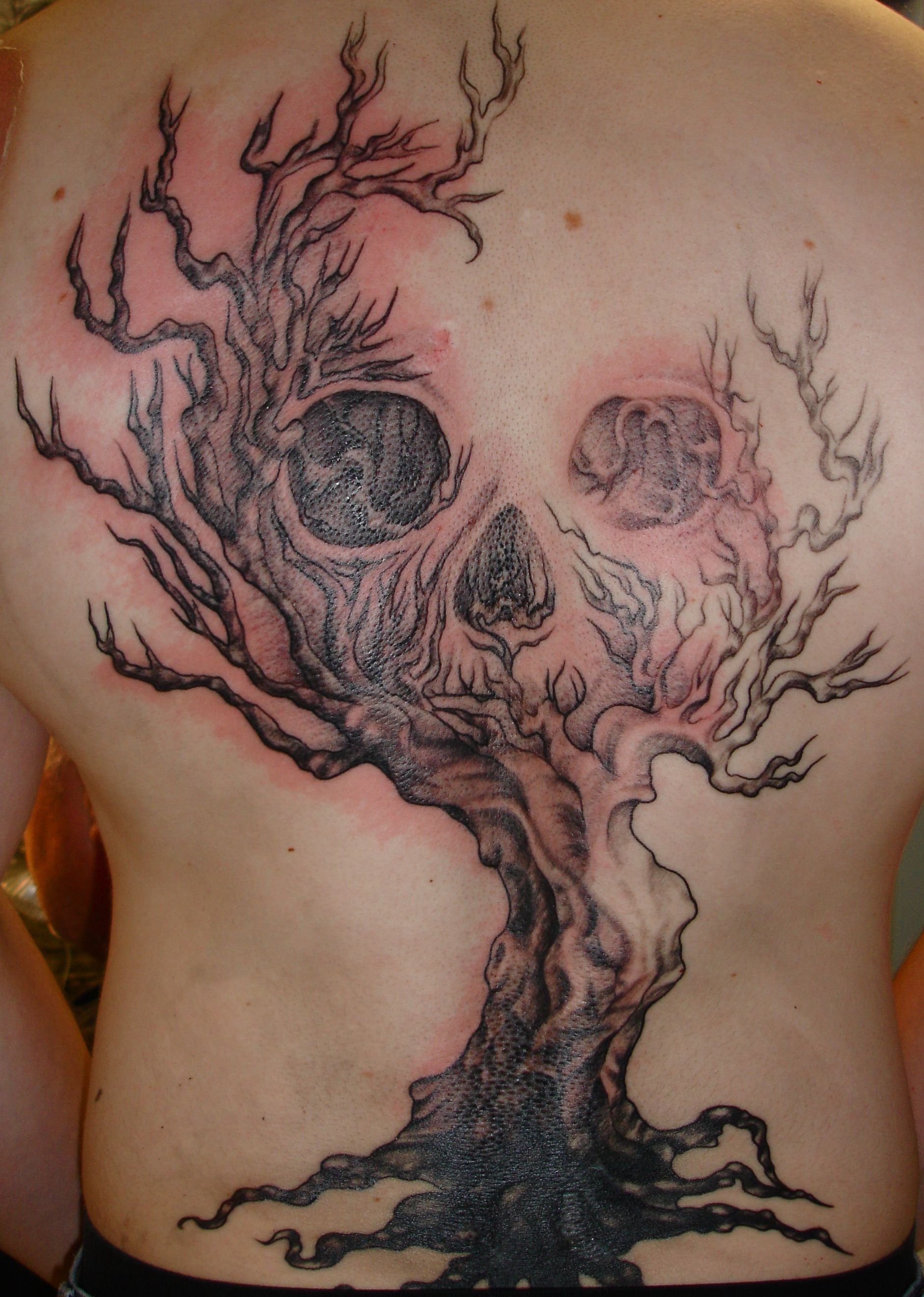 Tree Of Life With Skull With Images Scary Tattoos Spooky