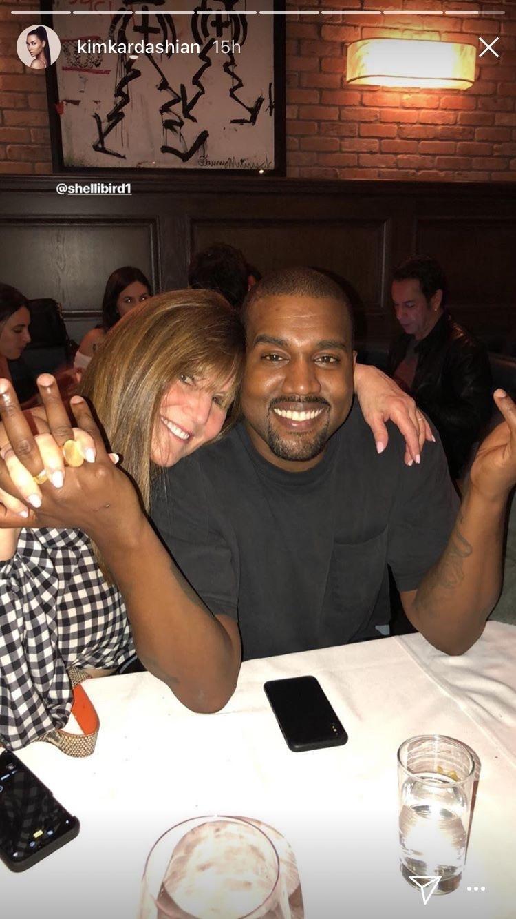 Rare Photo Of Kanye Smiling On Kim Kardashians Instagram Story Kim Kardashian Kim Kardashian Husband Kanye