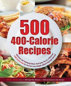 """Whether you're on a weight loss plan already, or looking to begin anew, """"500 400-Calorie Recipes"""" is your one-stop shop for healthy, deliciously comforting meals that won't bust your fitness goals, but rather boost you to them!"""