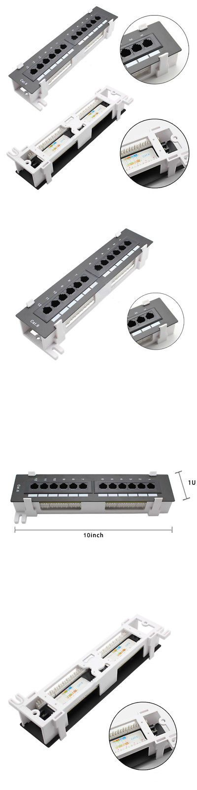 Patch Panels 44992 Useful 12port Cat5 Cat6 Rj45 Network Patch Panel Wall Mount Rack Surface Bracket Buy It Now Only 12 79 On Wall Mount Rack Wall Paneling