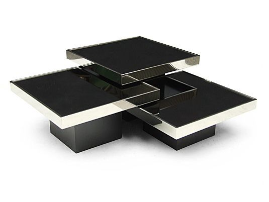 1970's table nest designed by Willy Rizzo for Cidue, Italy