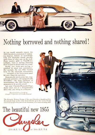 1955 Chrysler New Yorker Deluxe Classic Vintage Print Ad Chrysler New Yorker Classic Chevy Trucks Automobile Advertising