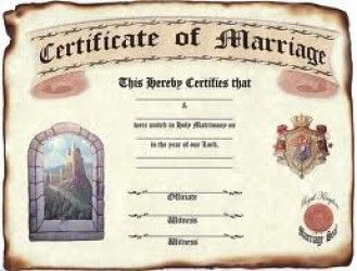 Marriage Certificate Of Gives Proof