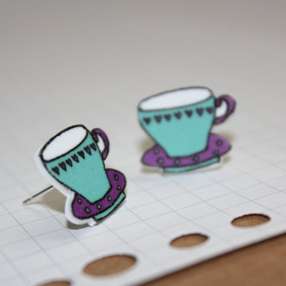 Teacup Earrings  Blue with Hearts by helenacarrington on Etsy https://www.etsy.com/uk/listing/182139536/teacup-earrings-blue-with-hearts?ref=shop_home_active_21