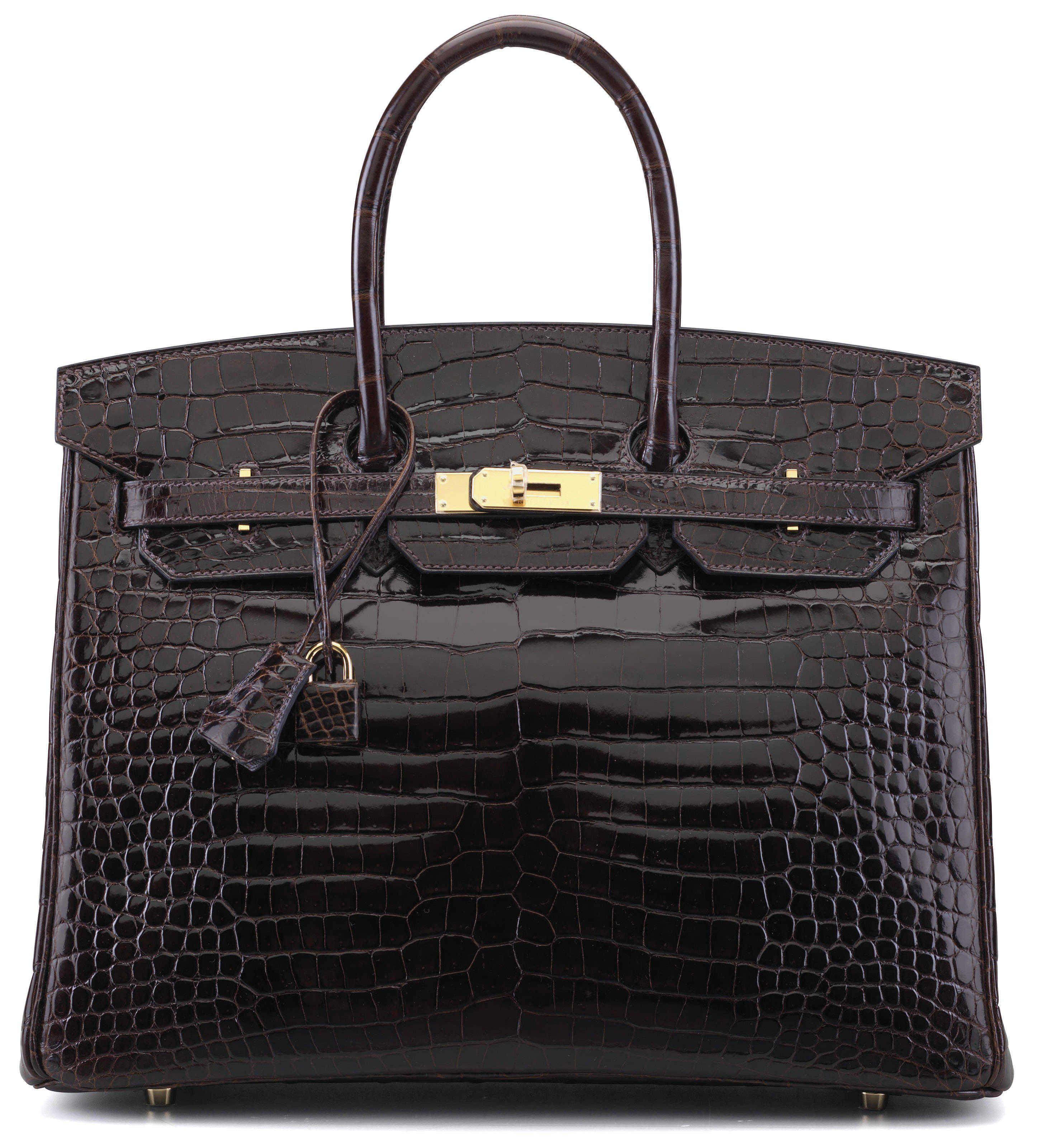A shiny cocoan porosus crocodile birkin 35 bag  0528dd373c421