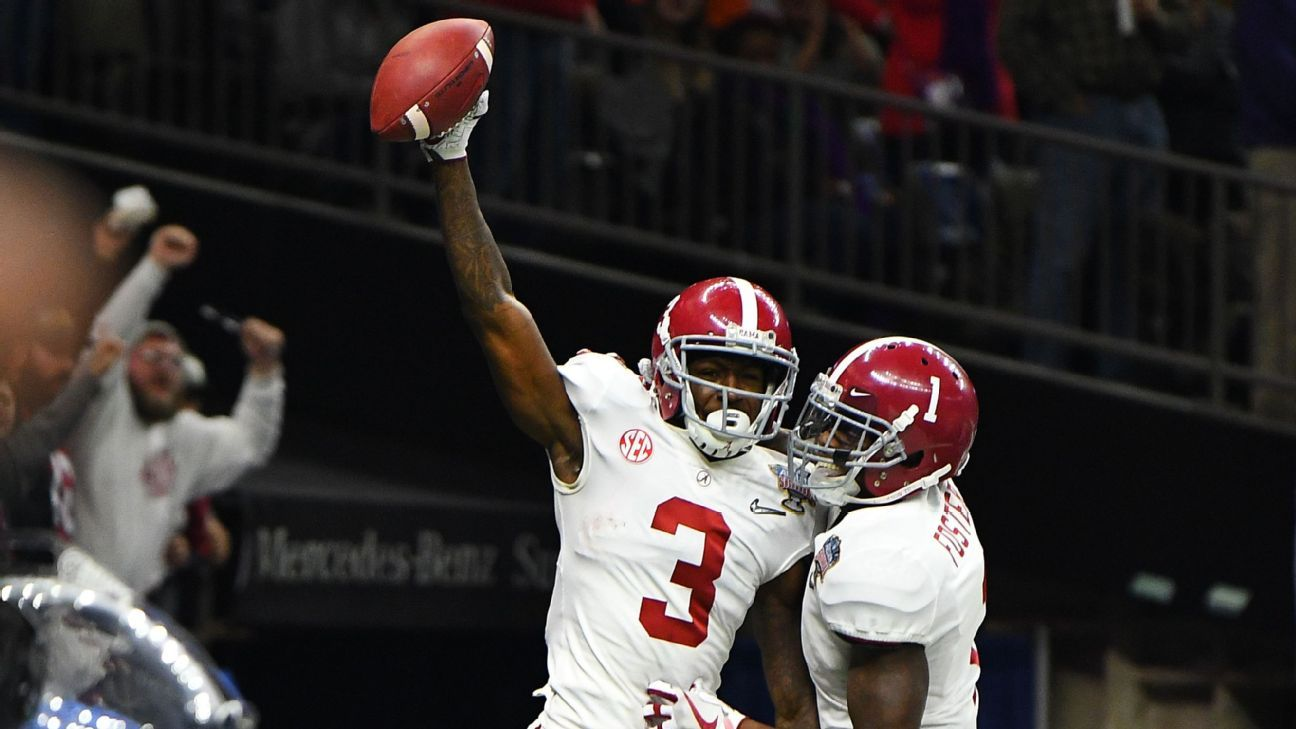 Tide Lose Ridley 2 Others To Draft Harris Stays Football Helmets National Champions Nfl