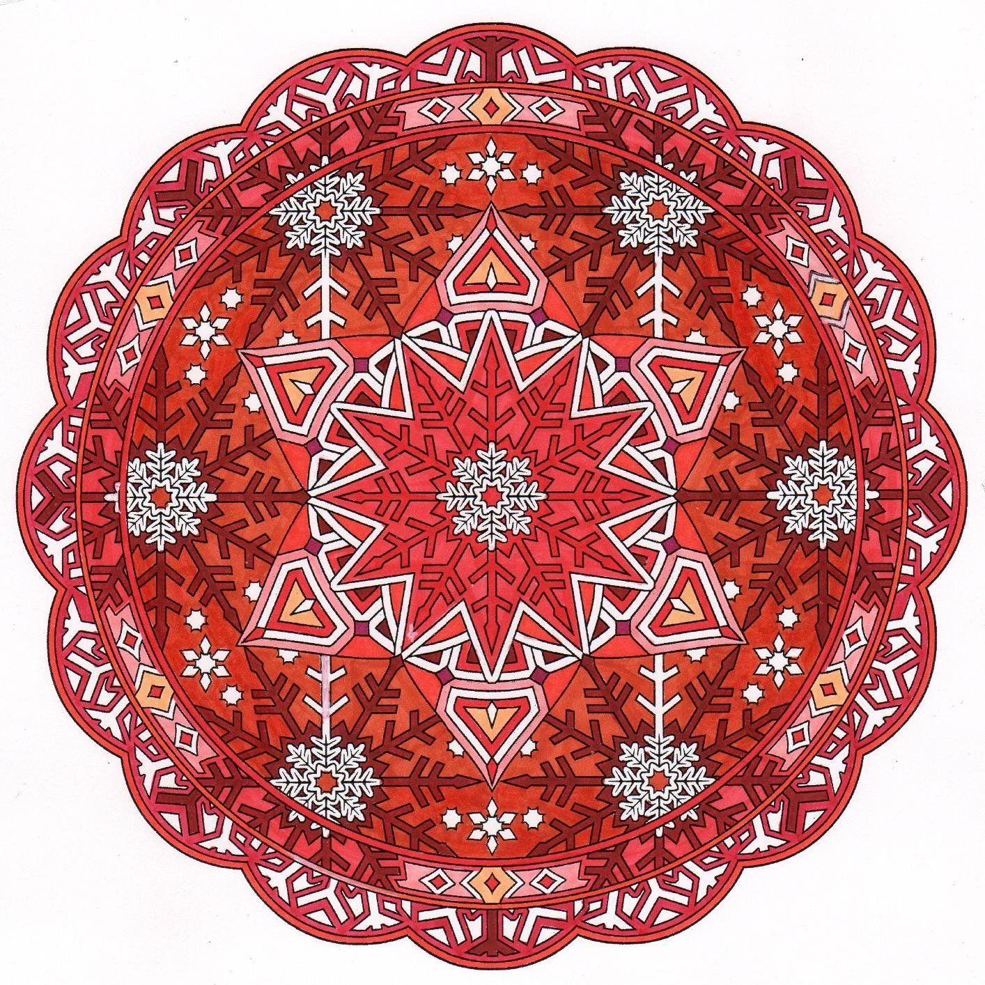 Creative Haven Snowflake Mandalas Coloring Book Adult Marty Noble 9780486803760