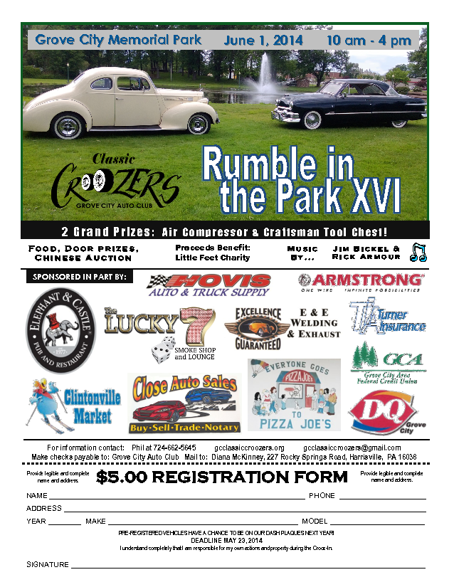 Rumble in the Park XVI 6/1/2014 | Grove City, PA | Car Show ...