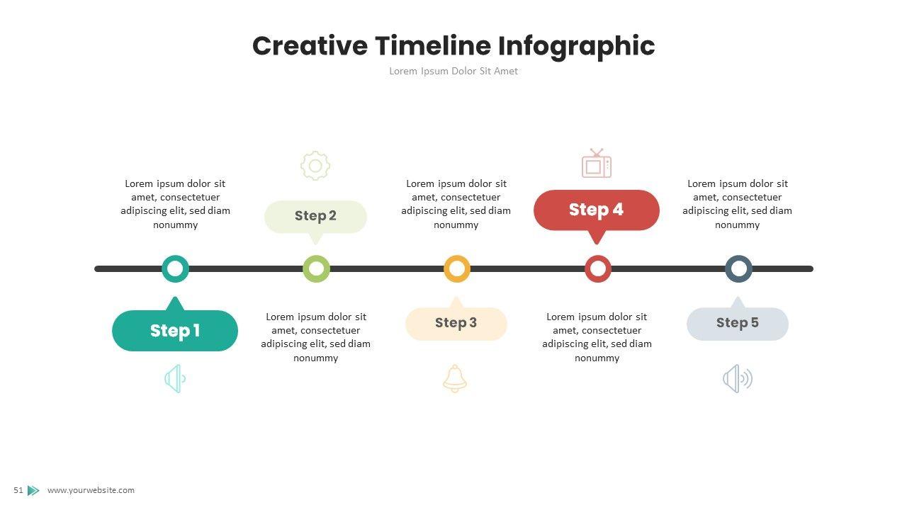 3d Infographic Timeline Google Slides Template Timeline