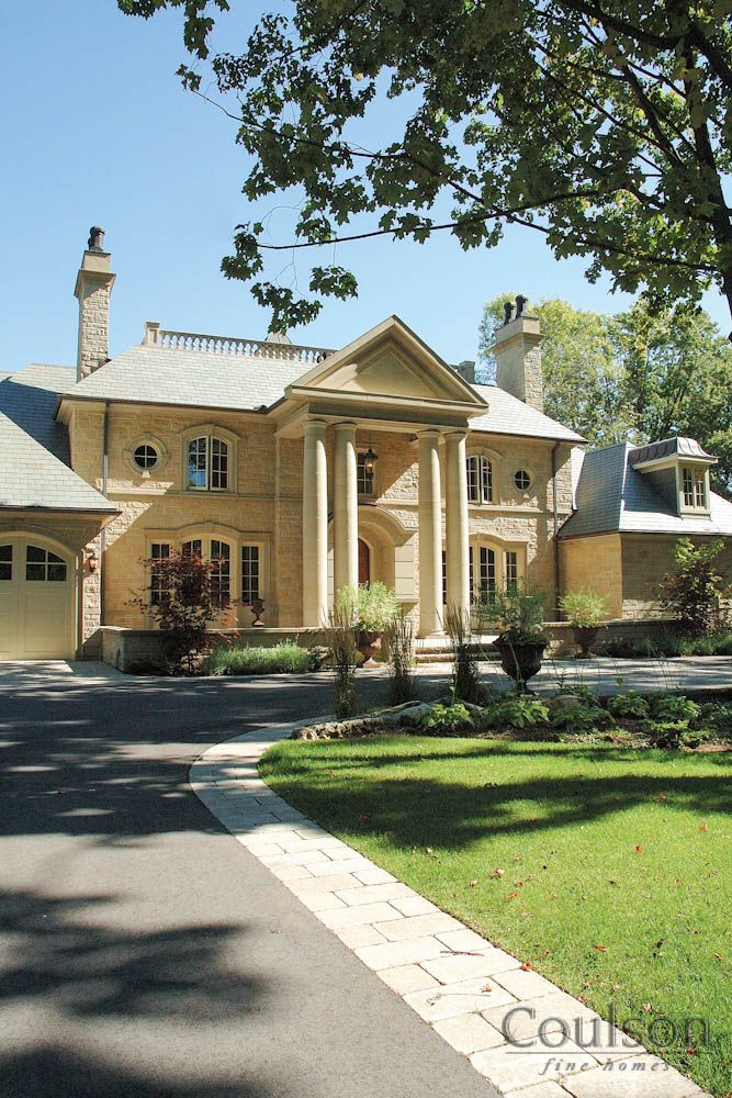 neoclassic architectural style house by coulson fine homes ontario