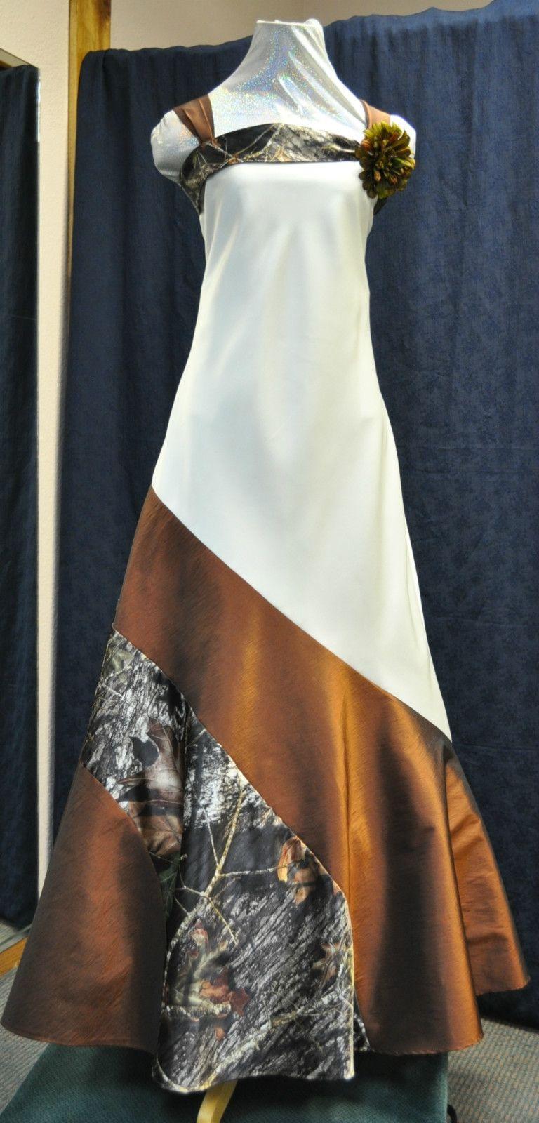 New camo weddingprom gowndress custom made in the usa camo
