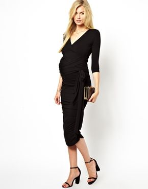 f83fe5f55ad Image 1 of Isabella Oliver Ruched Wrap Dress