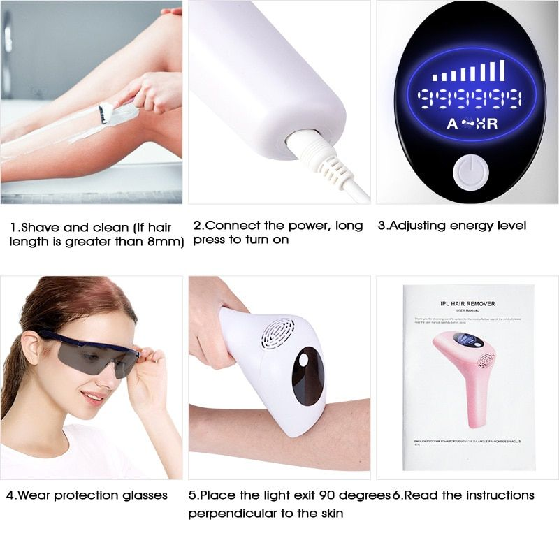 999999 Flashes 2020 New Laser Epilator Permanent Ipl Photoepilator Hai Pretty Buyers Improve Skin Texture Epilator Hair Removal