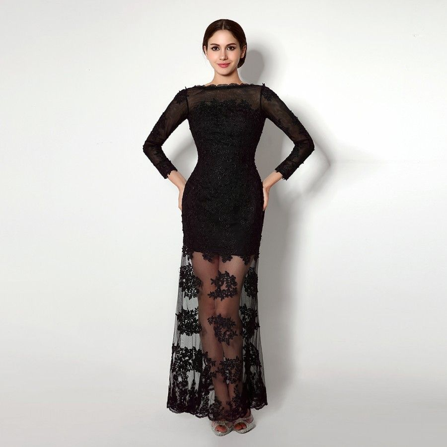 Find more evening dresses information about new long black formal