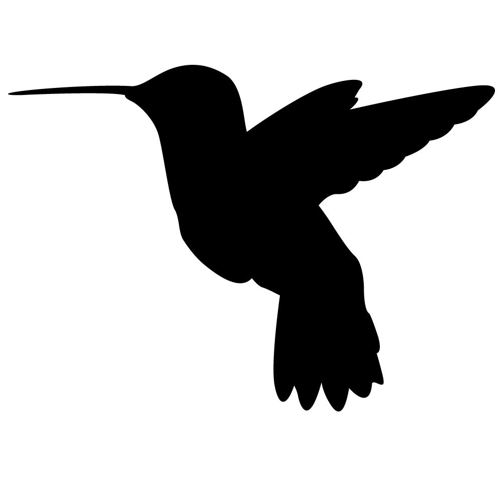 Hummingbird silhouette wall decal clipart best clipart best the hummingbird silhouette bird wall decal will look great in that man cave cabin garage or any room in your home decorated with an outdoor theme amipublicfo Images