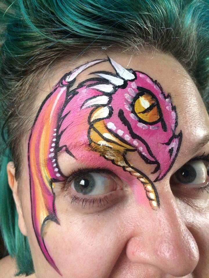Debz Faces || Dutch Bihary inspired dragon eye