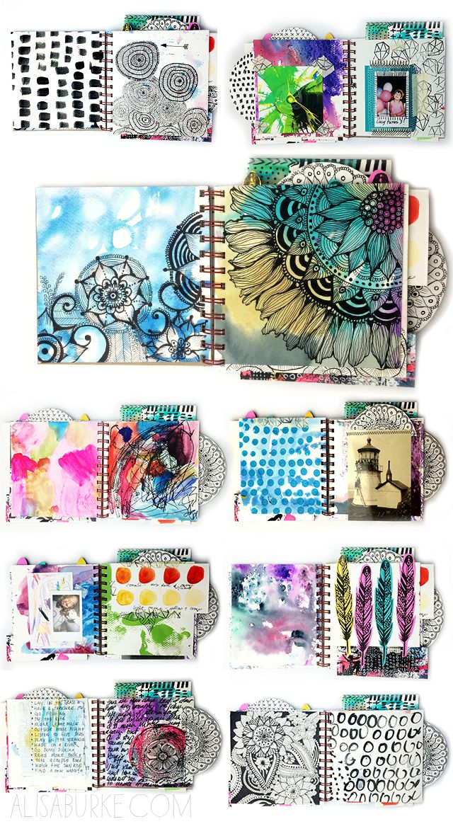 a peek inside my art journal (alisaburke) #artjournalinspiration