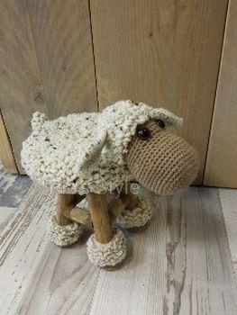Schaap Op Krukje Haken Crochet Knitting En Amigurumi