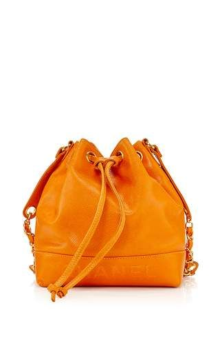 fe6bd529d232 What Goes Around Comes Around - Chanel Orange Caviar Bucket Bag ...