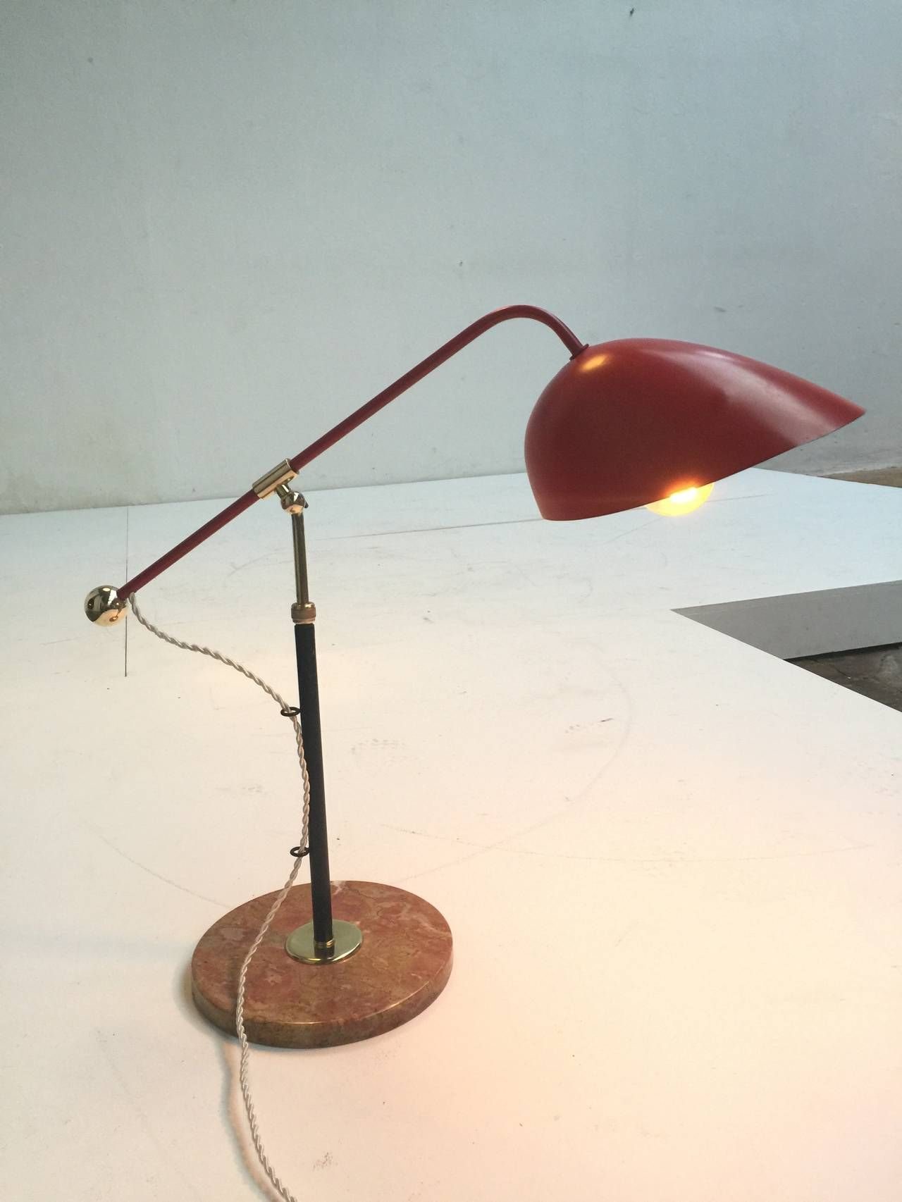 Stunning Counterbalanced Table Lamp By Angelo Lelli For Arredoluce 1954 From A Unique Collection Of Antique And Modern Table Lamps At Https Ww Lamp