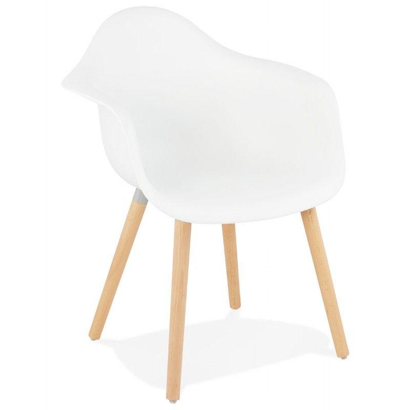 Chaise Design Scandinave Avec Accoudoirs Ophelie En Polypropylene Blanc Fauteuil Design Chaise Design Et Fauteuil