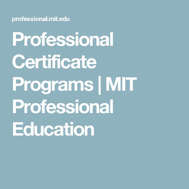 Certificate Programs Certificate And Programming