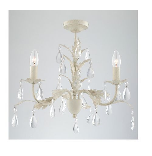 French Chateau Leaf Cream Porcelain Brushed Gold Ceiling Light Jewel  Chandelier in Home, Furniture u0026