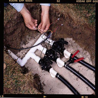 How To Install Your Own Underground Sprinkler System Underground Sprinkler Sprinkler System Diy Lawn Sprinkler System
