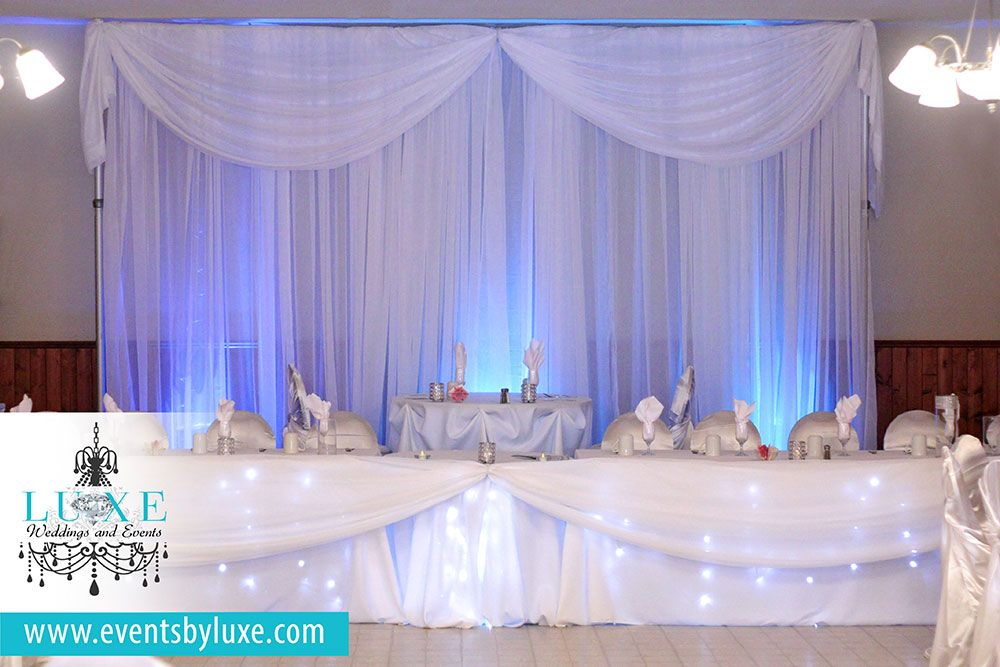Connies White Silver Cool Blue Wedding Decor In London Ontario