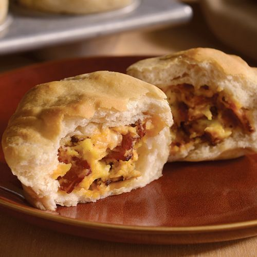 Bacon 'n Egg Stuffed Biscuits