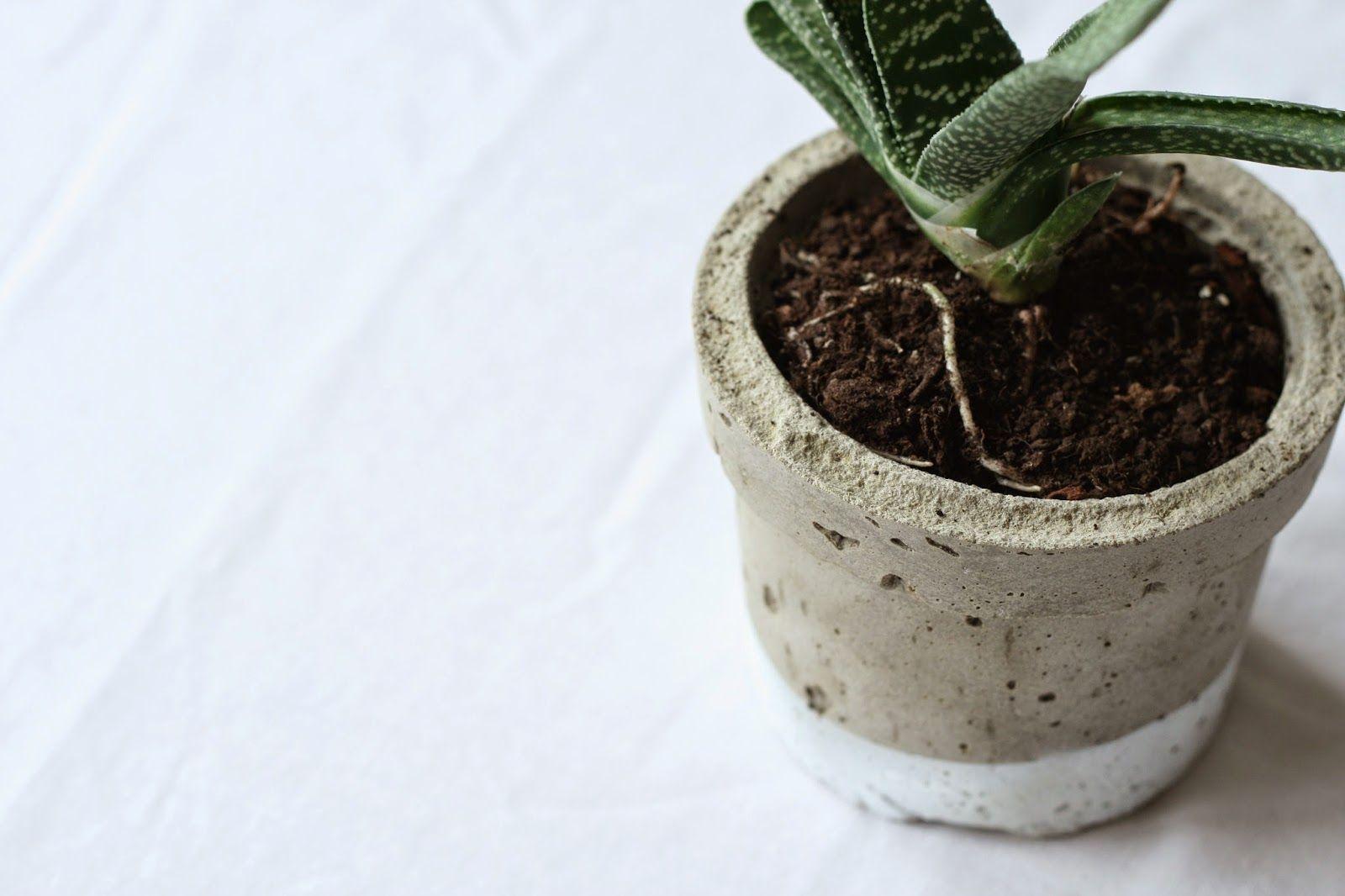 vida nullvier blumentopf aus beton our diy ideas blumentopf beton blumen und bastelideen. Black Bedroom Furniture Sets. Home Design Ideas