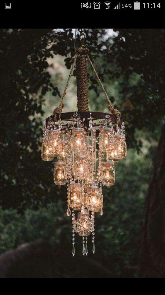 Outdoor rustic wedding decoration