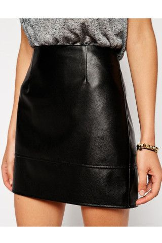 c2aa4b9647 Dani Faux Leather Mini Skirt – Genuine People Short Pencil Skirt, High  Waisted Pencil Skirt