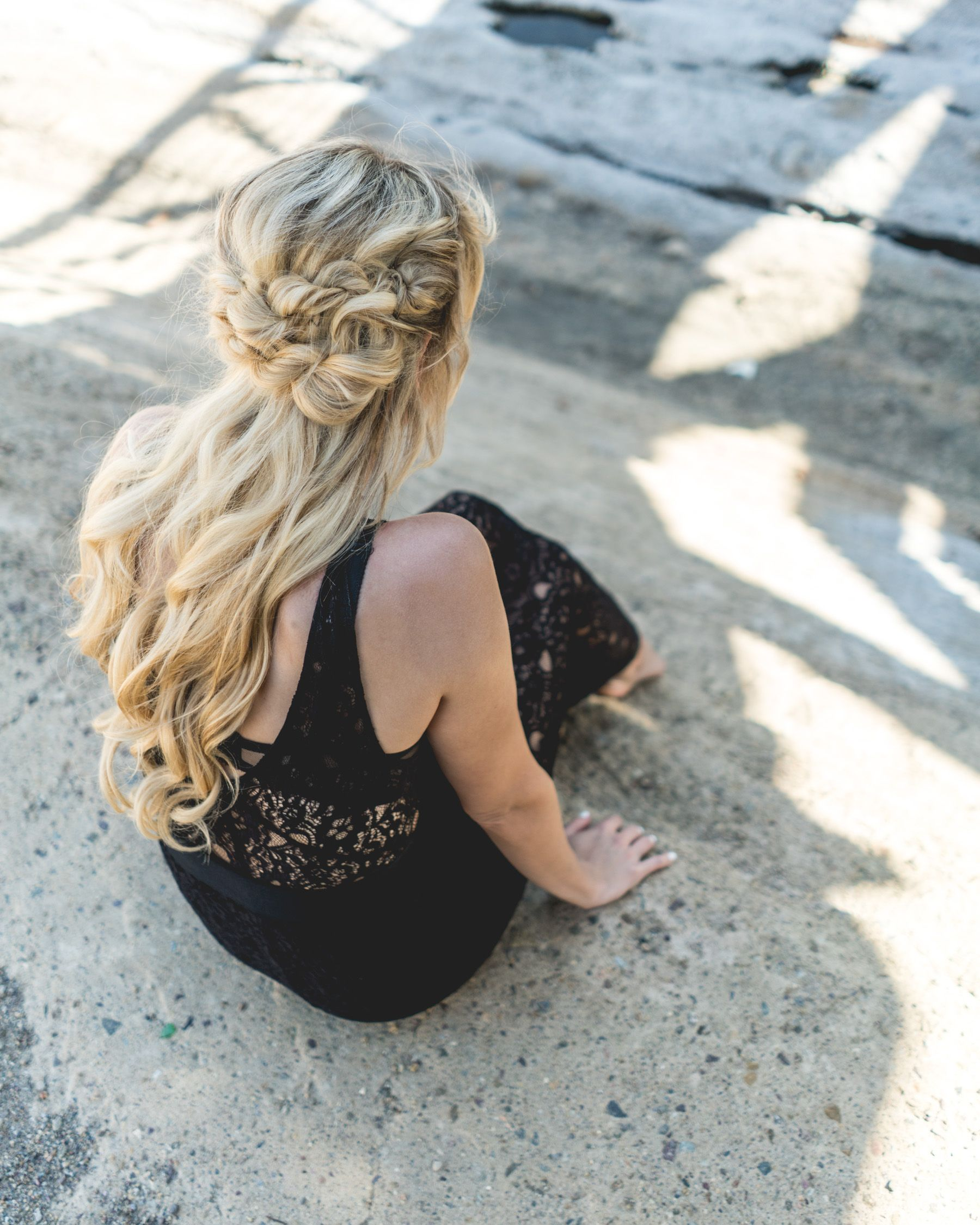 Maxi dress vintage hairstyles