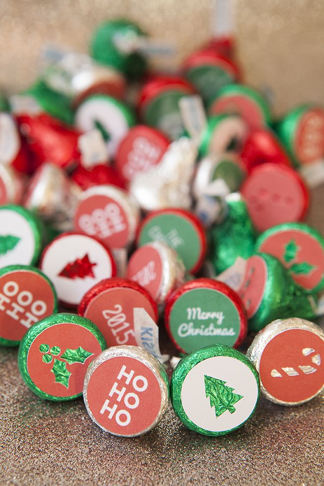 Diy your own hershey kiss christmas stickers using the cricut explore and our free cut files