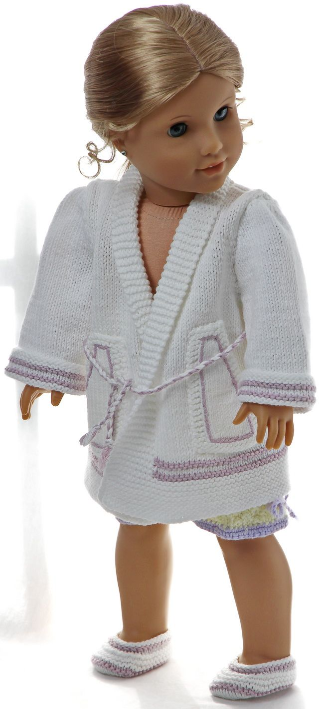 Knitting patterns for dolls clothes - lovely night clothes for your ...