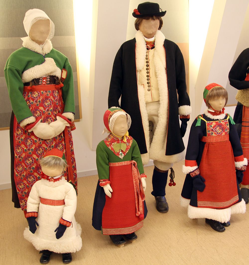 Julklädsel Boda, Dalarna. Boda costumes during Christmas.