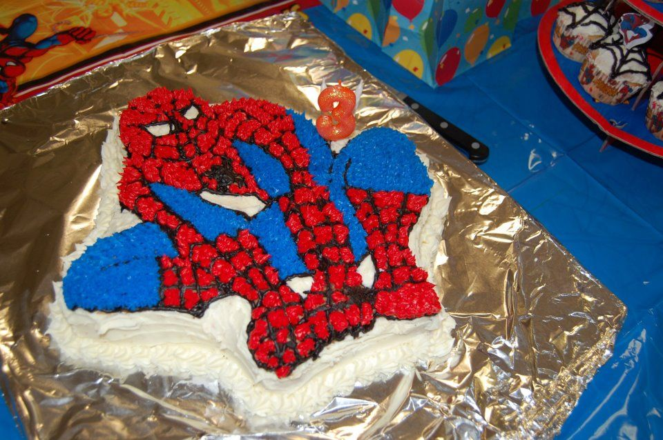 Crewss 3 year old birthday cakehomemade by his