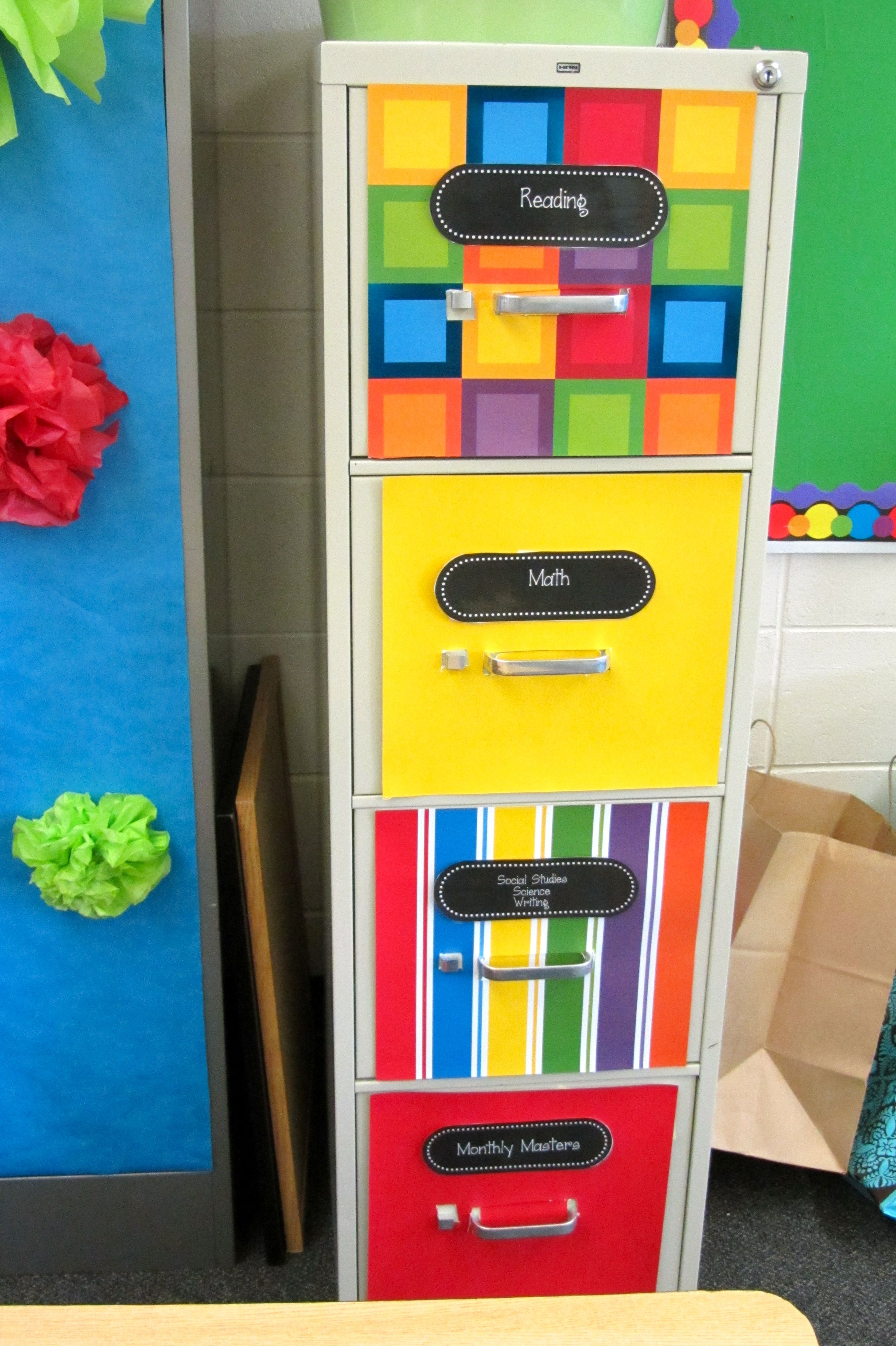 Classroom Cabinet Design ~ Filing cabinet makeover my own classroom pinterest