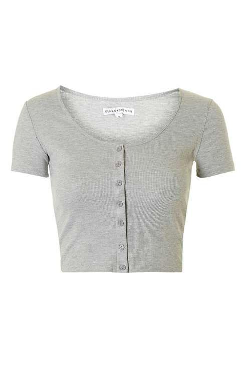 Button Down Crop Top by Glamorous Petites | Fashion