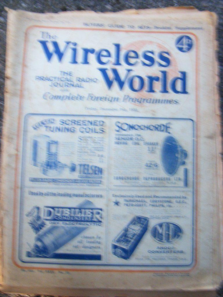 WIRELESS WORLD, RADIO MAGAZINES, FROM 1933