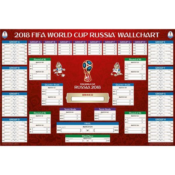 Fifa world cup russia bracket chart poster also rh pinterest