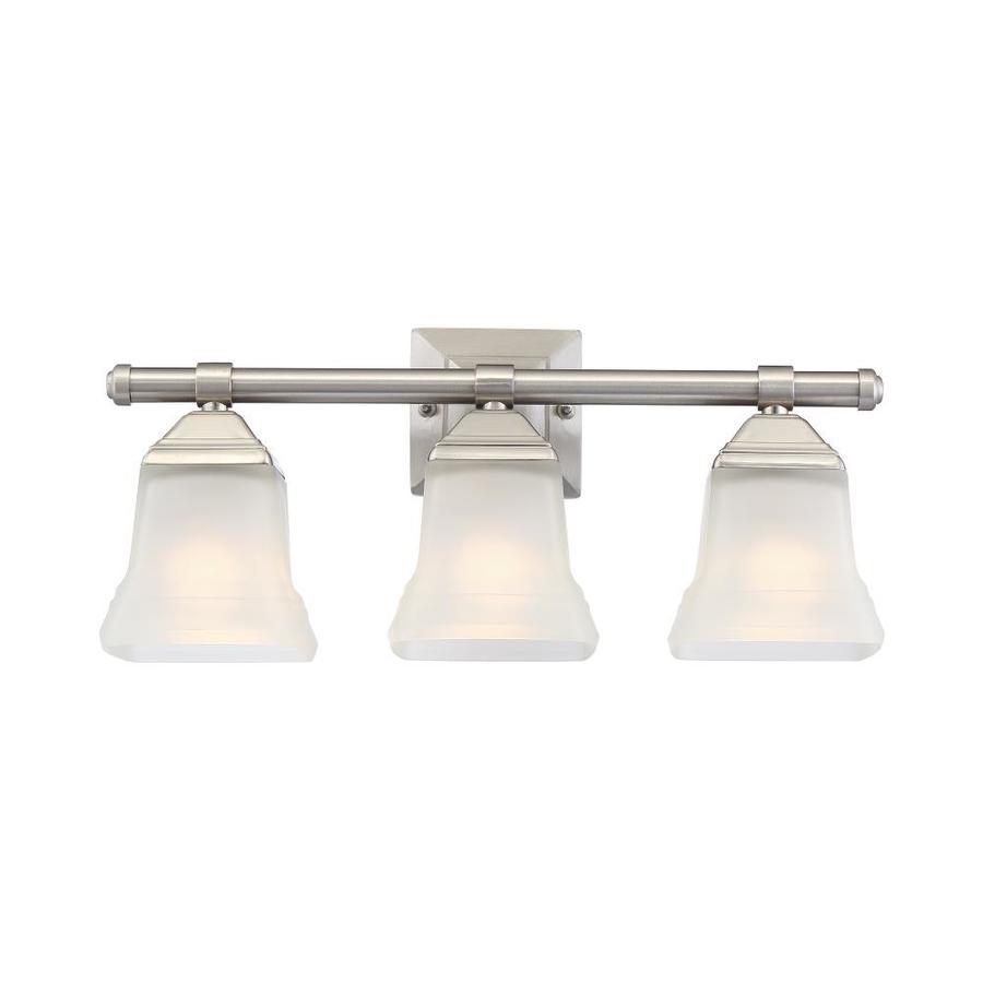 Portfolio 3-Light 19-in Brushed Nickel Bell Vanity Light ...