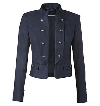 David Lawrence | Jackets & Coats - Navy Flannel Military Jacket - no longer on his website but a very cute style!