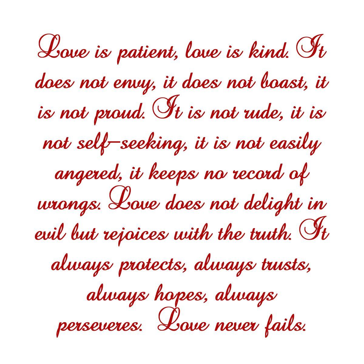 Love Is Patient Love Is Kind Quote 1 Corinthians 134 Love Is Patient Love Is Kind  Inspirational