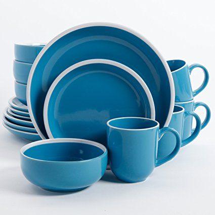 Amazon.com | Gibson Home Orofino 16 Piece Dinnerware Set Blue Dinnerware Sets & Gibson Home - Orofino (Blue) | 12 PORCELAN KERAMIKA | Pinterest ...