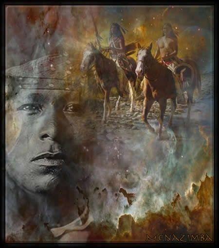 Indiens,chevaux -