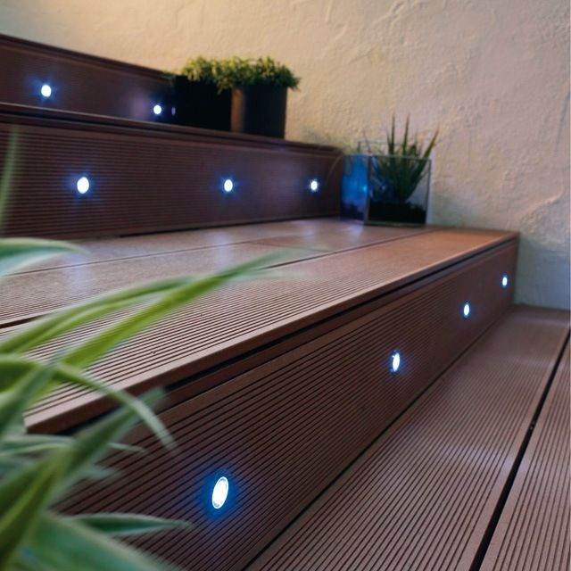 10 spots encastrables bilis lumi re bleue led int gr e for Spot exterieur terrasse